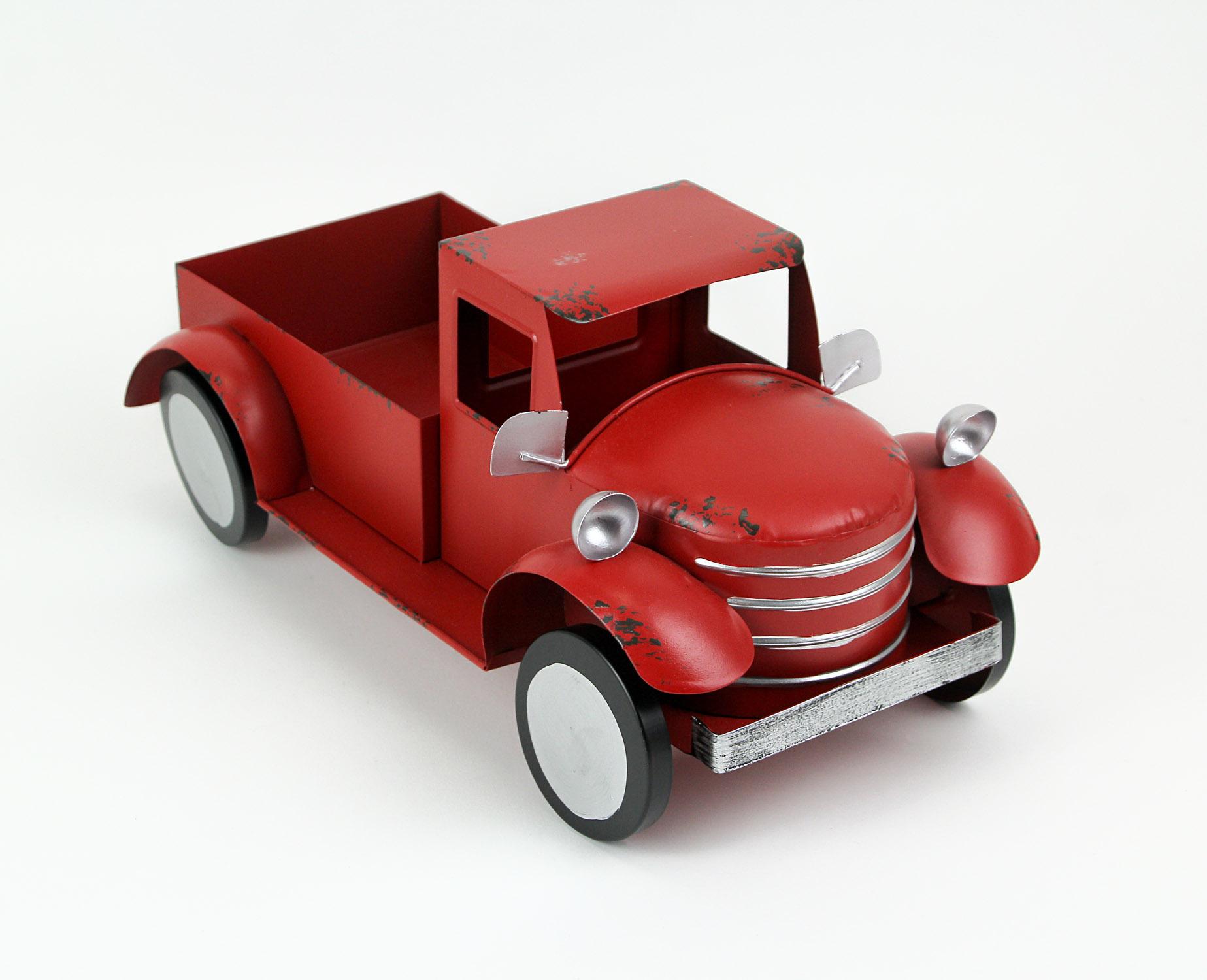 thumbnail 7 - Zeckos Rustic Metal Antique Truck Indoor or Outdoor Planter