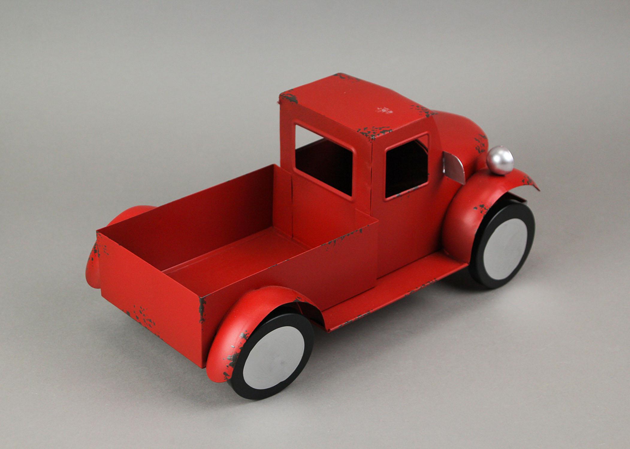 thumbnail 9 - Zeckos Rustic Metal Antique Truck Indoor or Outdoor Planter
